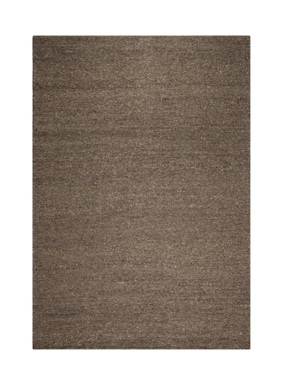 un Amour von Teppich 24335Look 406Teppich Moderne ungefärbt Wolle Kohle/Schwarz, schwarz, 250 x 350 cm