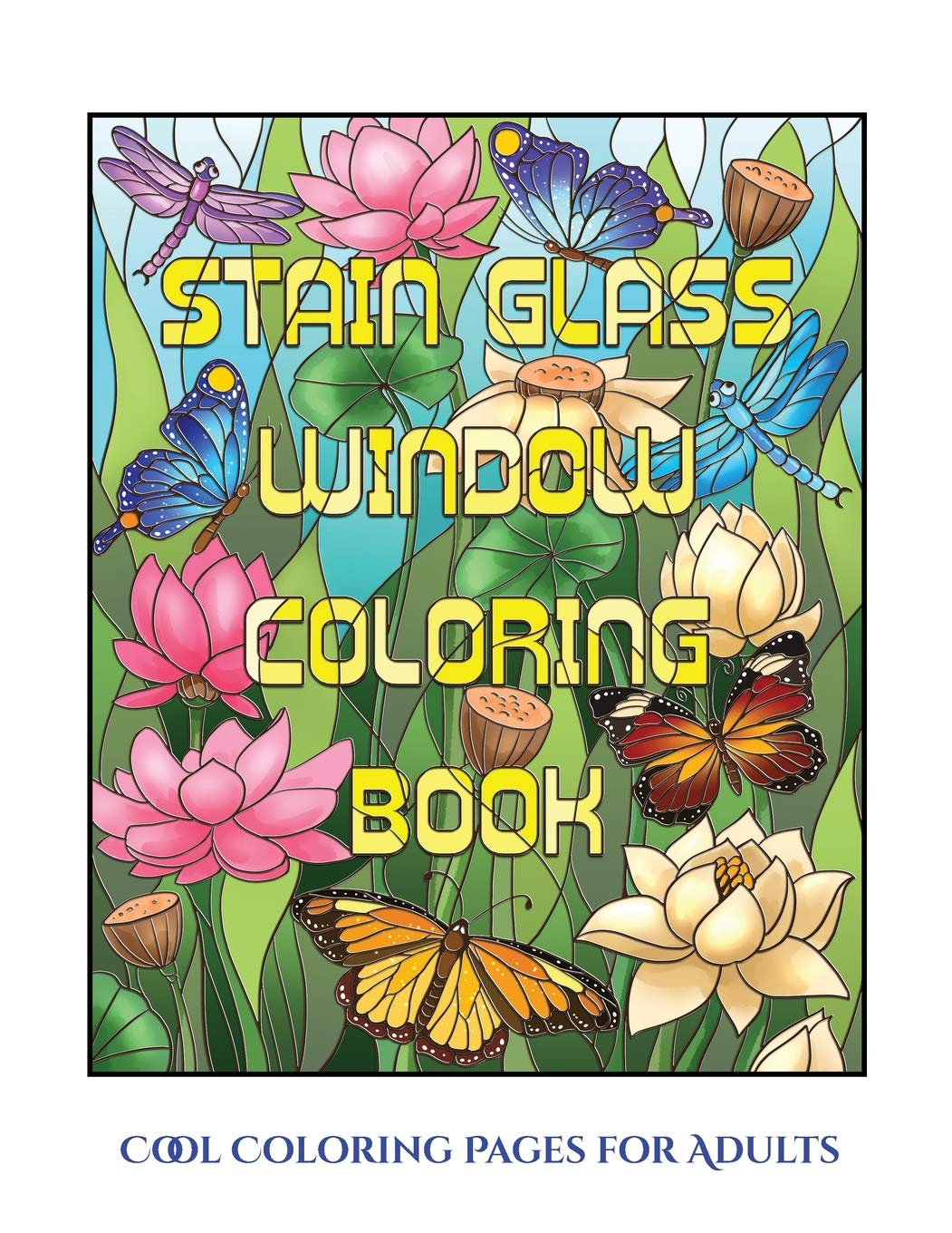- Amazon.com: Cool Coloring Pages For Adults (Stain Glass Window