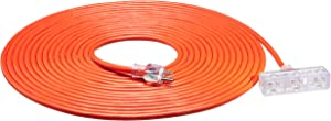 AmazonBasics Outdoor Extension Cord with Lighted 3 Outlets, Orange, 50 Foot