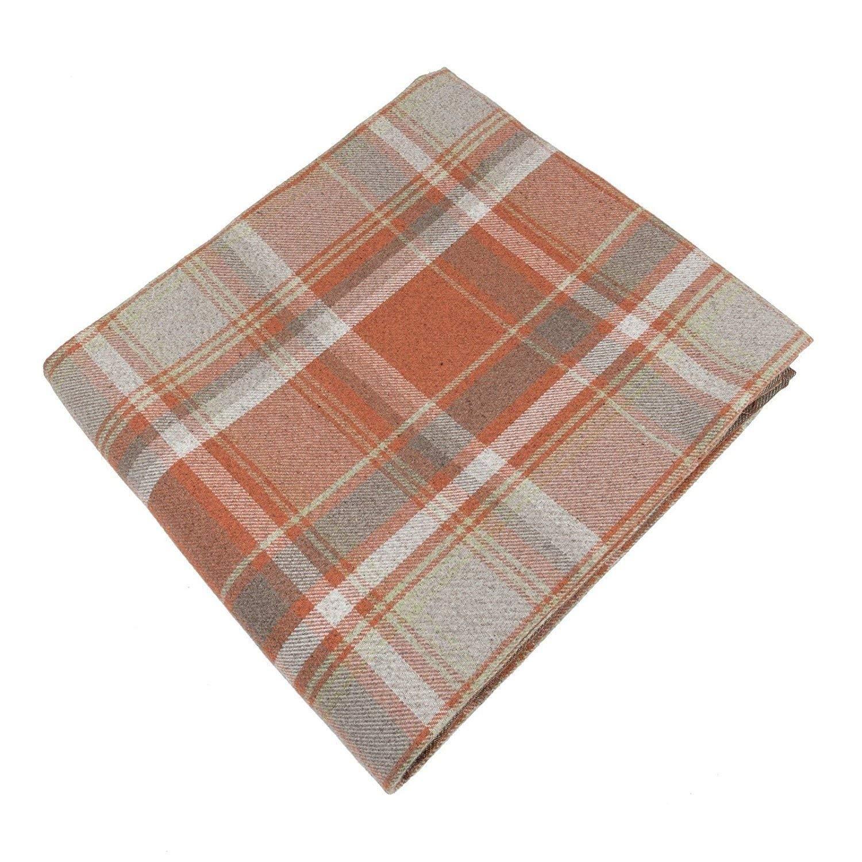 McAlister Textiles - Signature Kollektion   Heritage Überwurf im Tartan-Muster kariert 130cm x 200cm in Terracotta Orange   Decke für Sofa, Bett, Sessel, Picknick, Schottenkaro