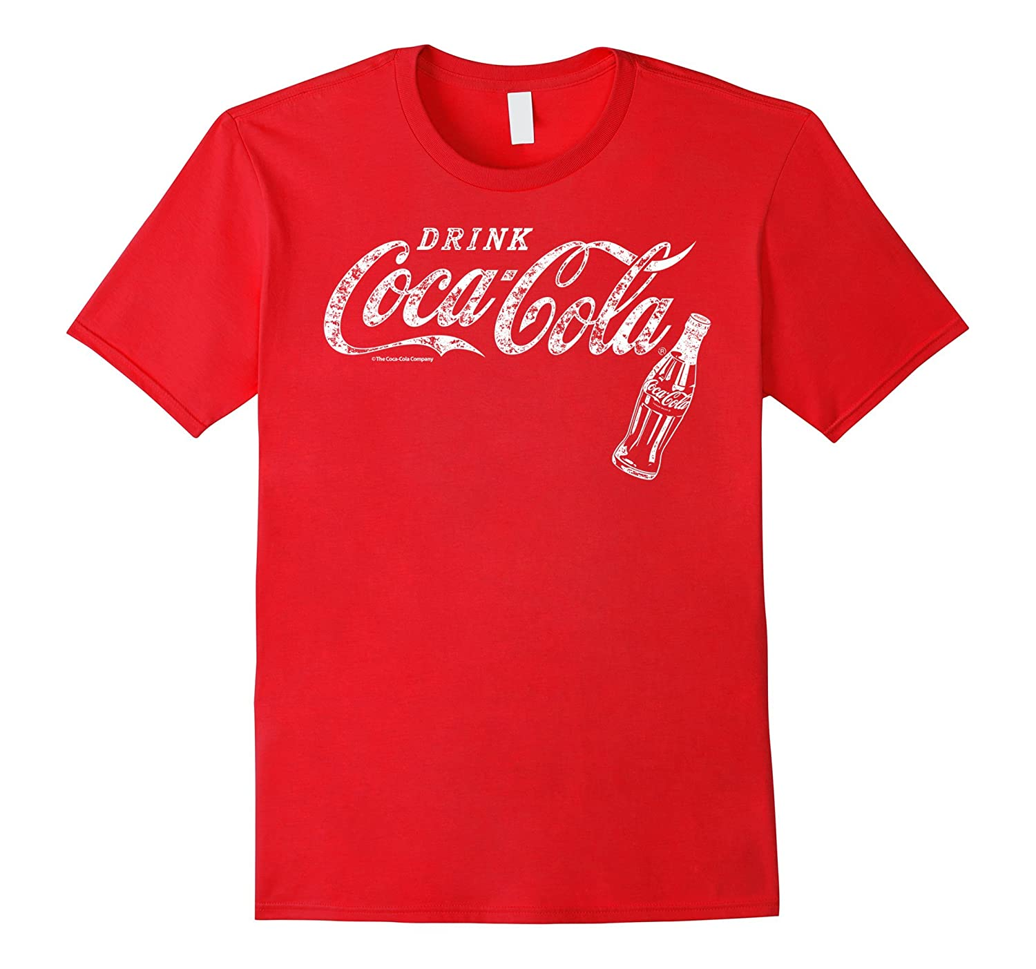 Coca-Cola Vintage White Drink Logo Bottle Graphic T-Shirt-T-Shirt