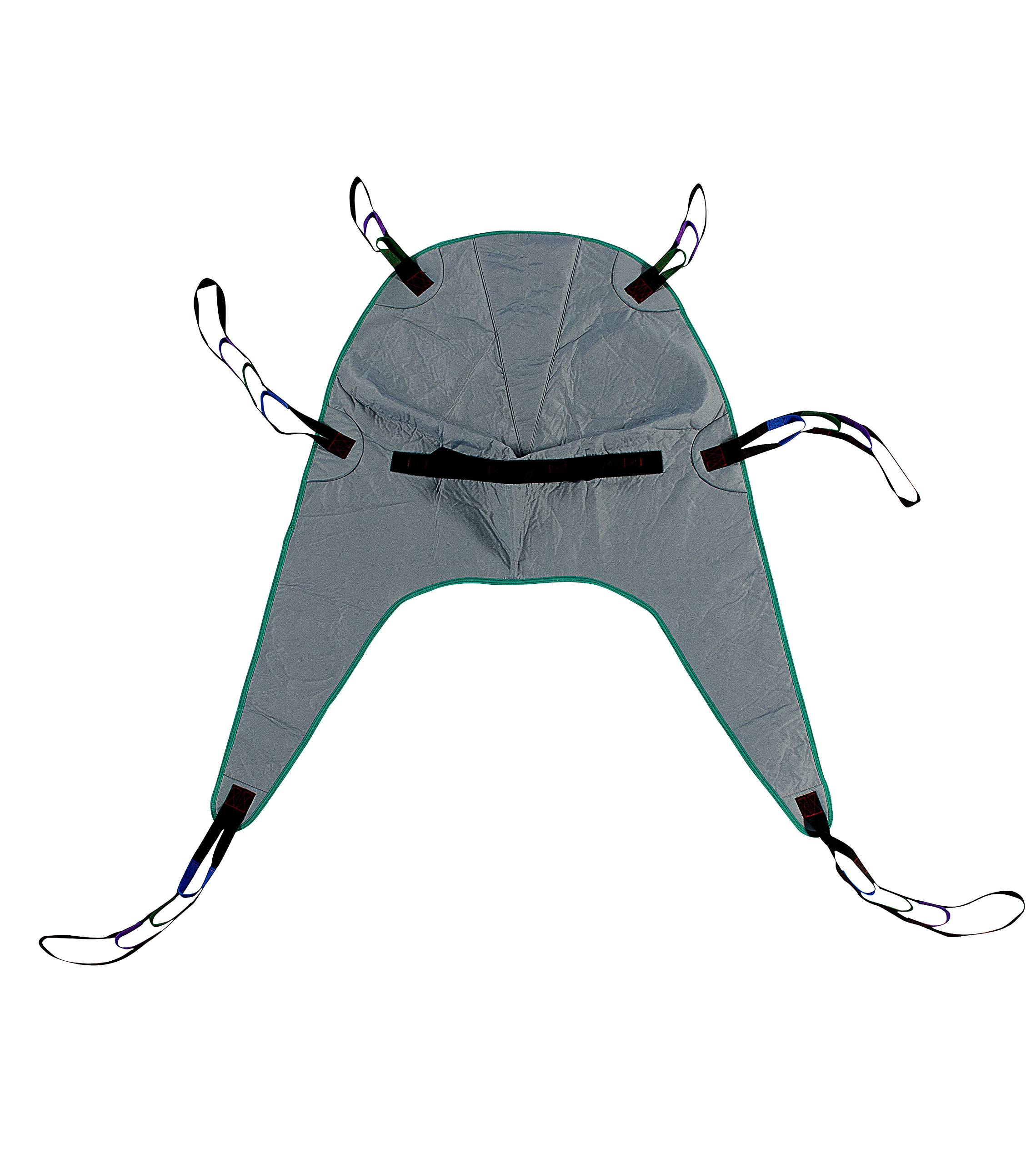 Divided Leg Padded Patient Lift Universal Sling with Head Support, Size Medium, 450lb Capacity by Patient Aid