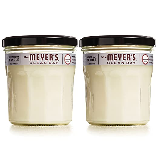 MRS MEYERS Soy Candle Large, Lavender, 7.2 Ounce, 2 Count