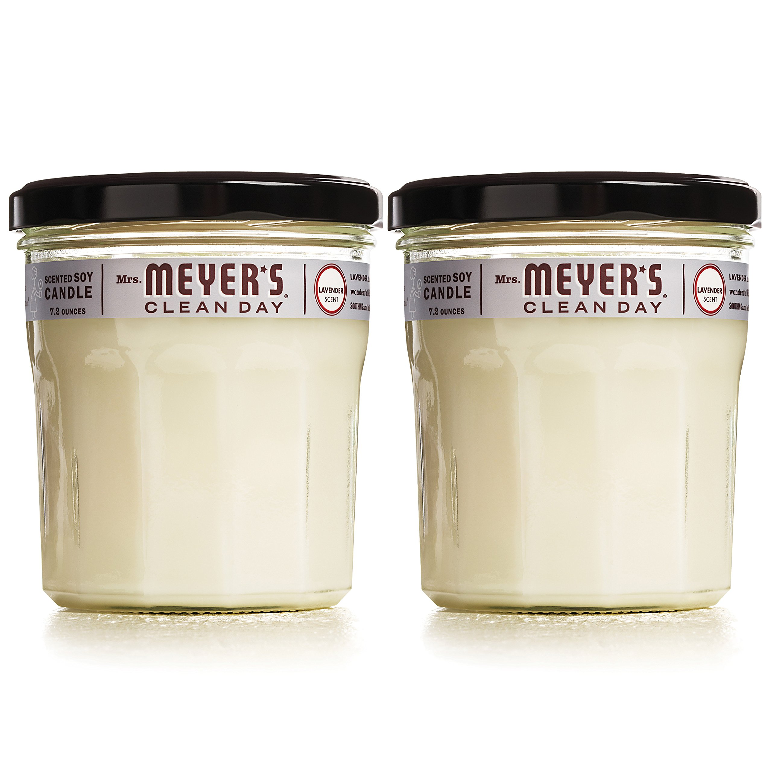 Mrs. Meyer's Clean Day Scented Soy Candle, Large Glass, Lavender, 7.2 oz, (Pack of 2) by Mrs. Meyers