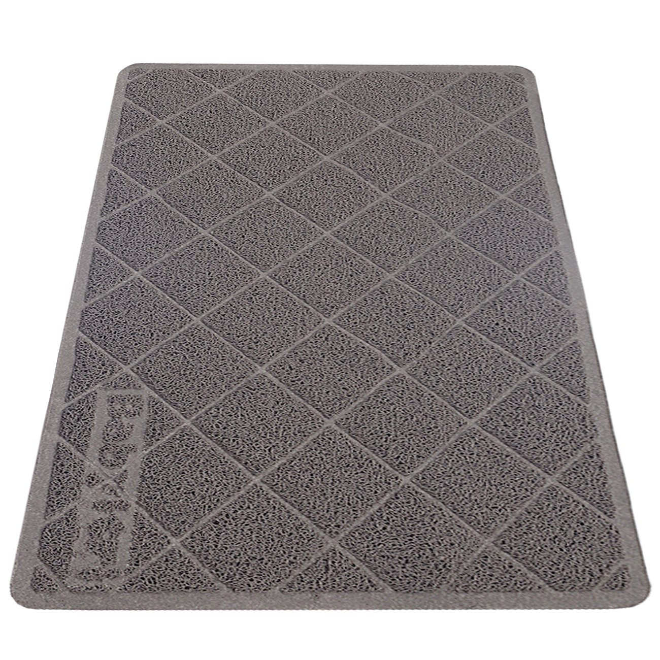 Babyltrl Extra Large Cat Litter Mat XL Jumbo Size 35 x 23 Phthalate Free Traps Litter from Box and Paws Non Slipping Backing Easy to Clean Soft for Sensitive Kitty Paws