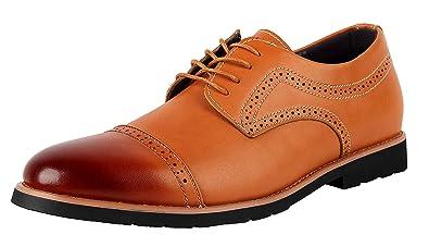 iLoveSIA Chaussures à Lacets Homme - Multicolore - Marron, 44.5