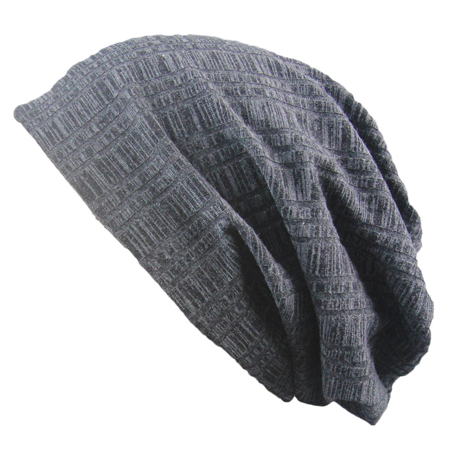 Unisex Cuffed or Slouchy Ribbed Midweight Beanie Cap for Men or Women Slivery Color Olancha 100/% Knit Wool