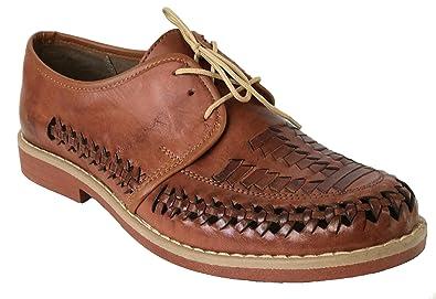 0a49ac95c768e Men s Authentic Leather Soft Handmade Sandals Shoes Brown (6 ...