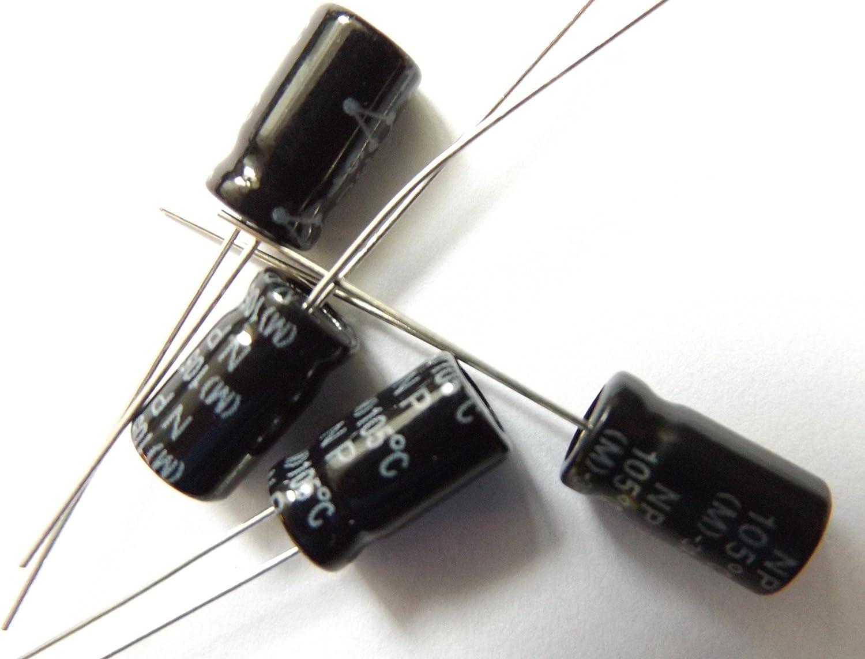 10/UF 63/V 105/C condensateur non polaris/é//Bipolaire Taille 6,3/mmx11/mm Lot de 4/pi/èces