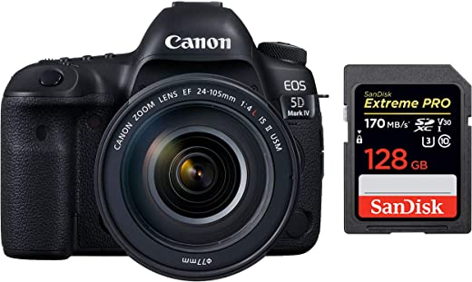 Canon Digital SLR Camera Mark IV 30.4 MP EOS 5D, EF 24-105mm is II USM Lens Kit