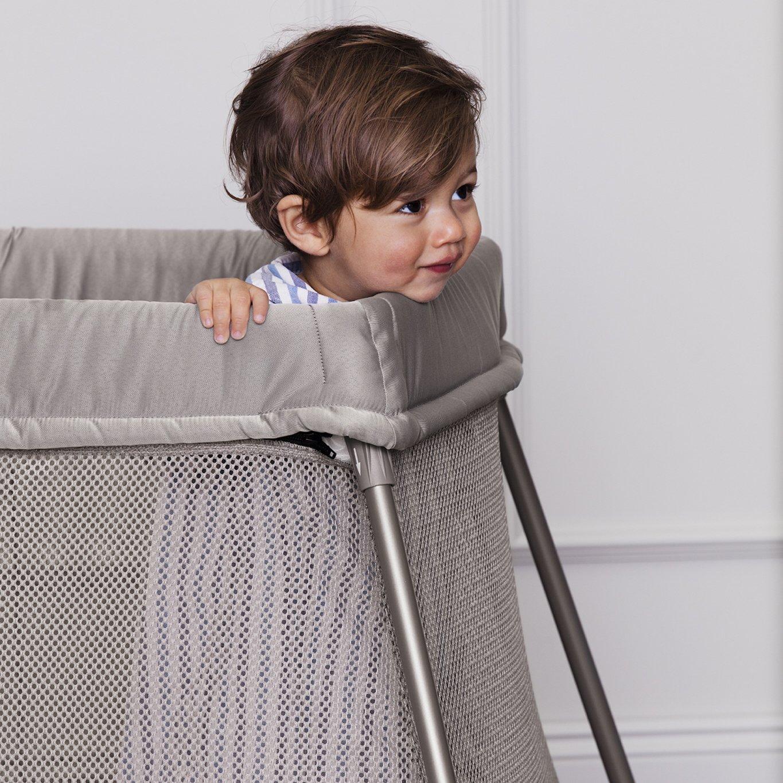 BabyBj/örn Cuna De Viaje Easy Go con bolsa de transporte color antracita Cuna de viaje plegable