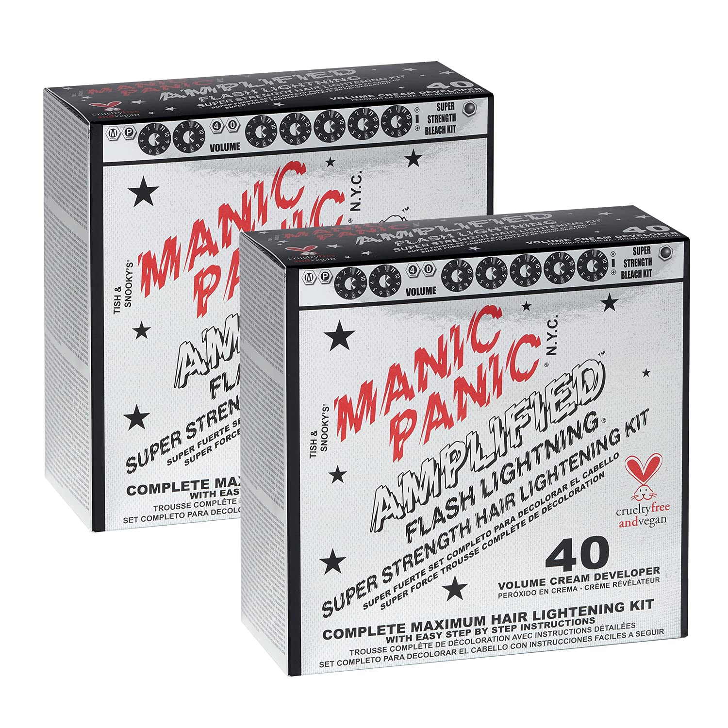 Manic Panic 40 Vol Lightning Hair Bleach Kit 2PK