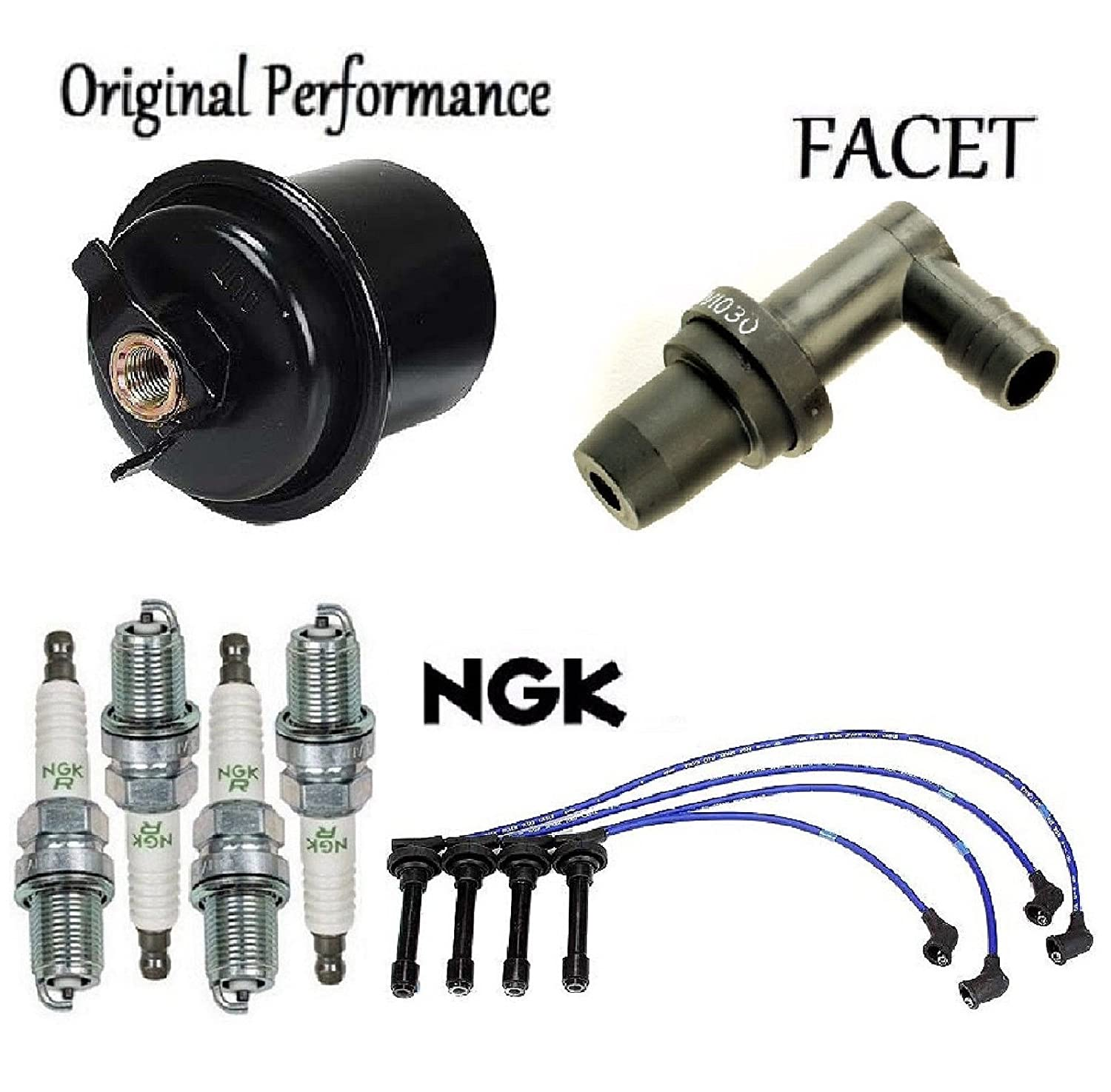Tune Up Kit Fuel Filter Wires /& Plugs PCV Valve for Honda CR-V 2.0L; B20Z2 Eng 1999 2001