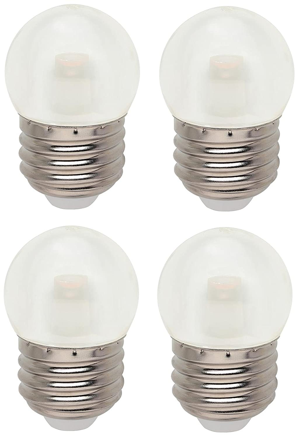 LED S11 2700K Medium Base Light Bulb, 1 Watt (7-1/2 Watt Equivalent) (4  Pack, Clear)