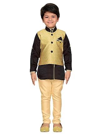33e15a745 AJ Dezines Kids Indian Wear Bollywood Style Kurta Pyjama Waistcoat for Boys:  Amazon.co.uk: Clothing