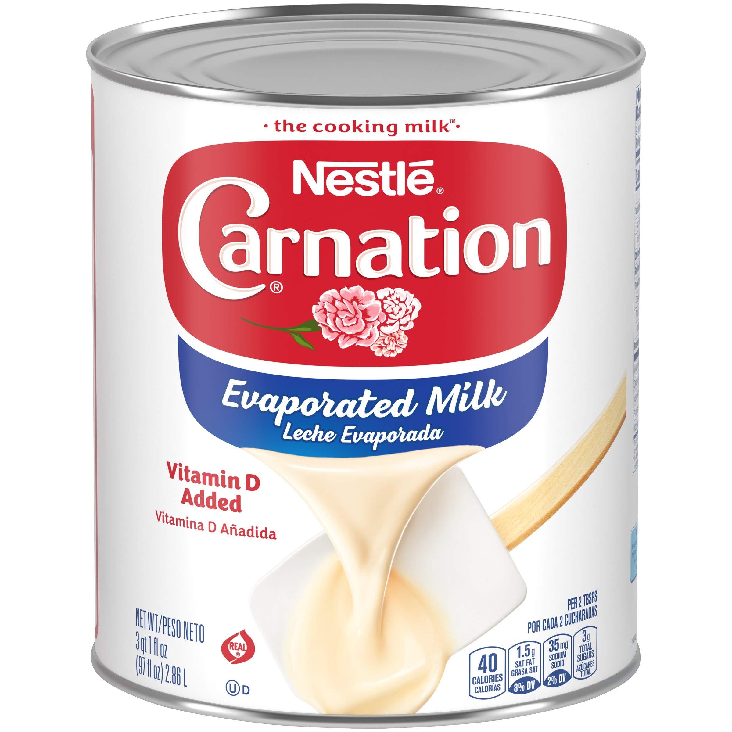 Carnation Evaporated Milk, Holiday Desserts, Unsweetened Condensed Milk, Pumpkin Pie, 97 Fl Oz (2.86 L)