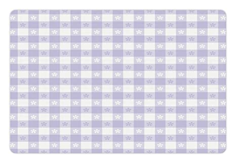 Amazon.com: Lunarable Lavender Pet Mat for Food and Water, Pastel ...