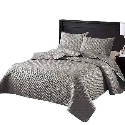 Amazoncom Exclusivo Mezcla 3 Piece King Size Quilt Set With Pillow