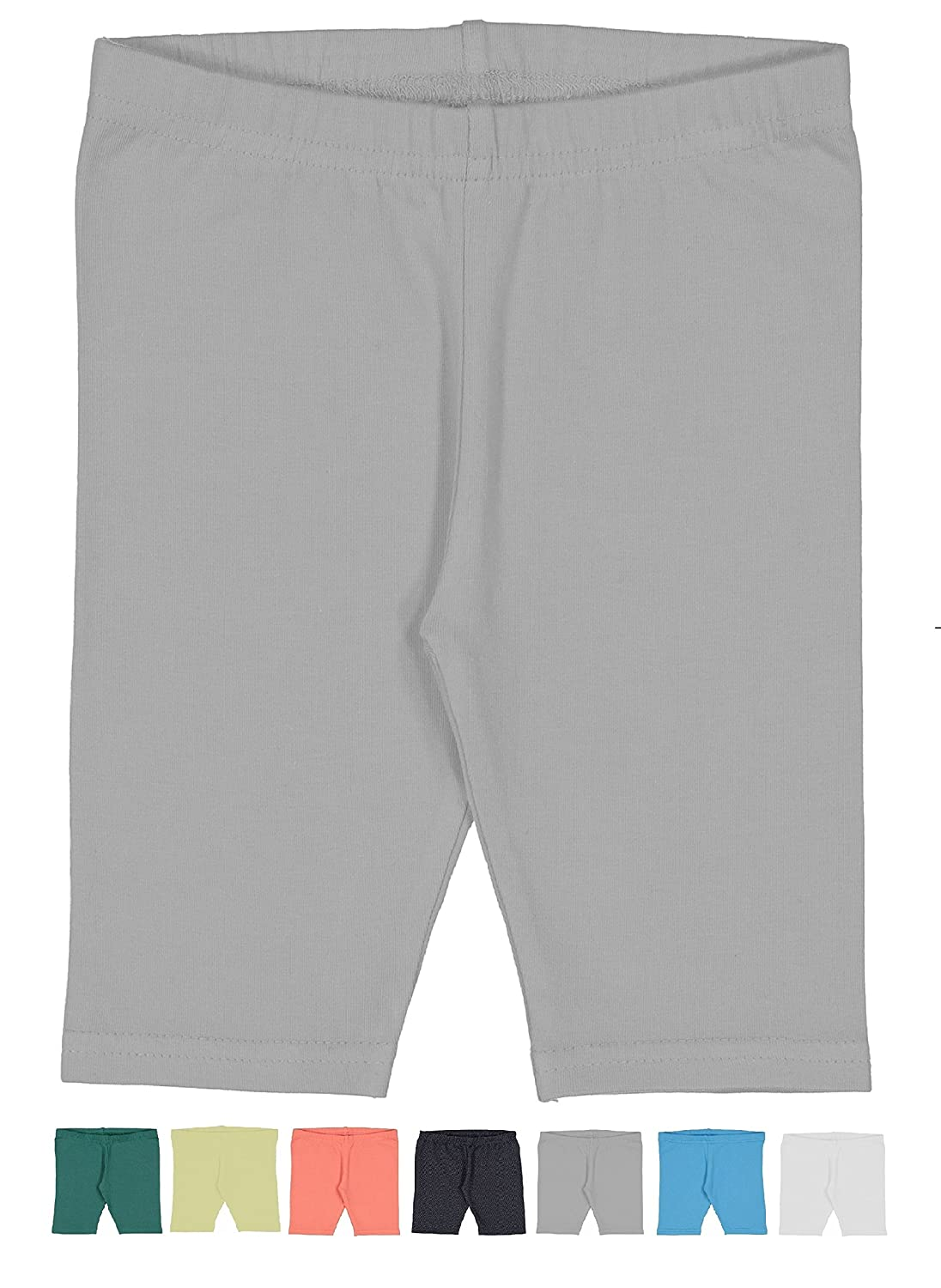 19ffaac8de COMFORTABLE WEAR: Made of 95% cotton and 5% spandex, our legging shorts  wick away sweat while providing a comfortable stretch, perfect for active  little ...