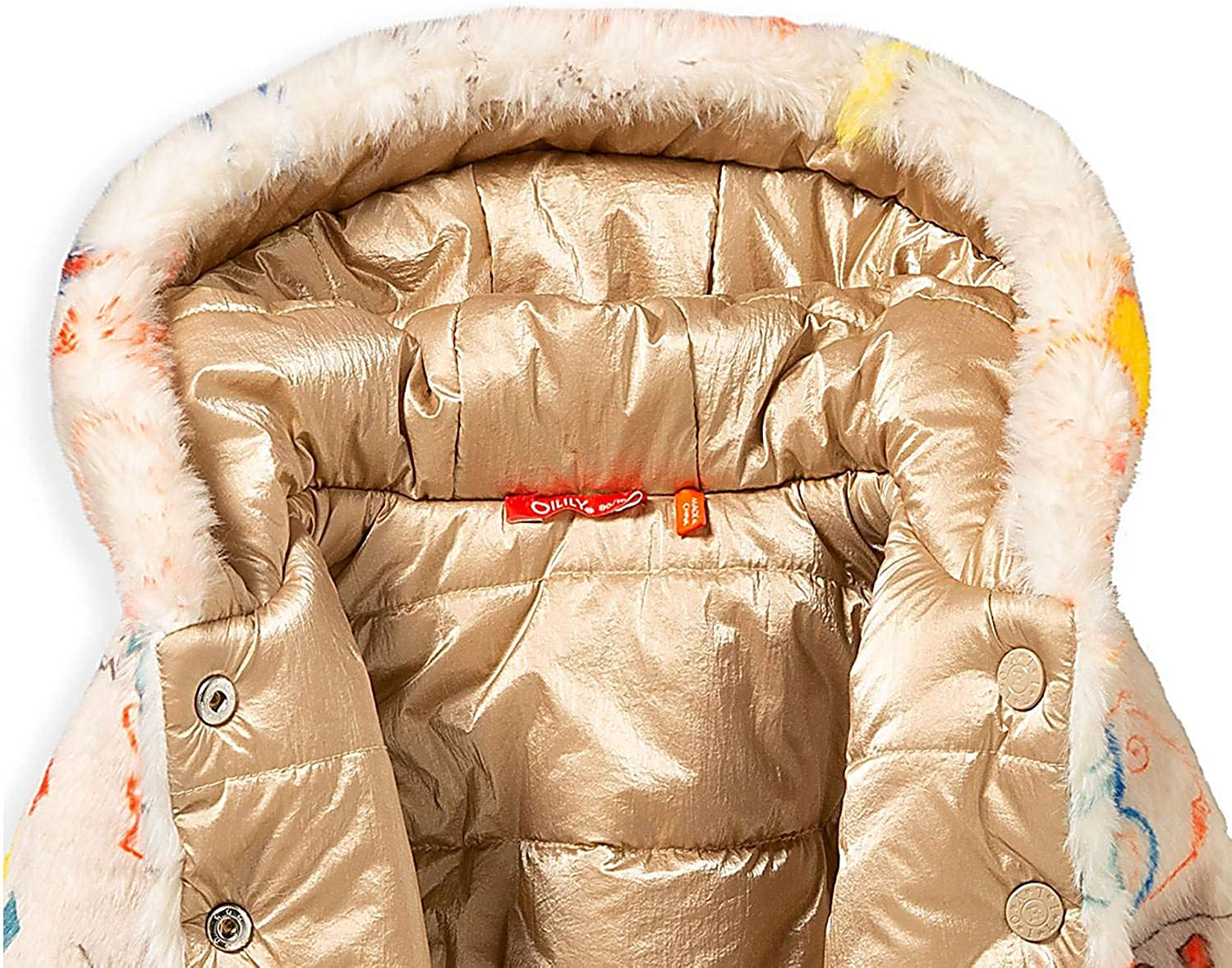 Oilily Cozzle Girls Reversible Winter Jacket
