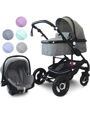 3in1 Kinderwagen Kombikinderwagen Babywagen Buggy Babyschale Autositz Blau Grau