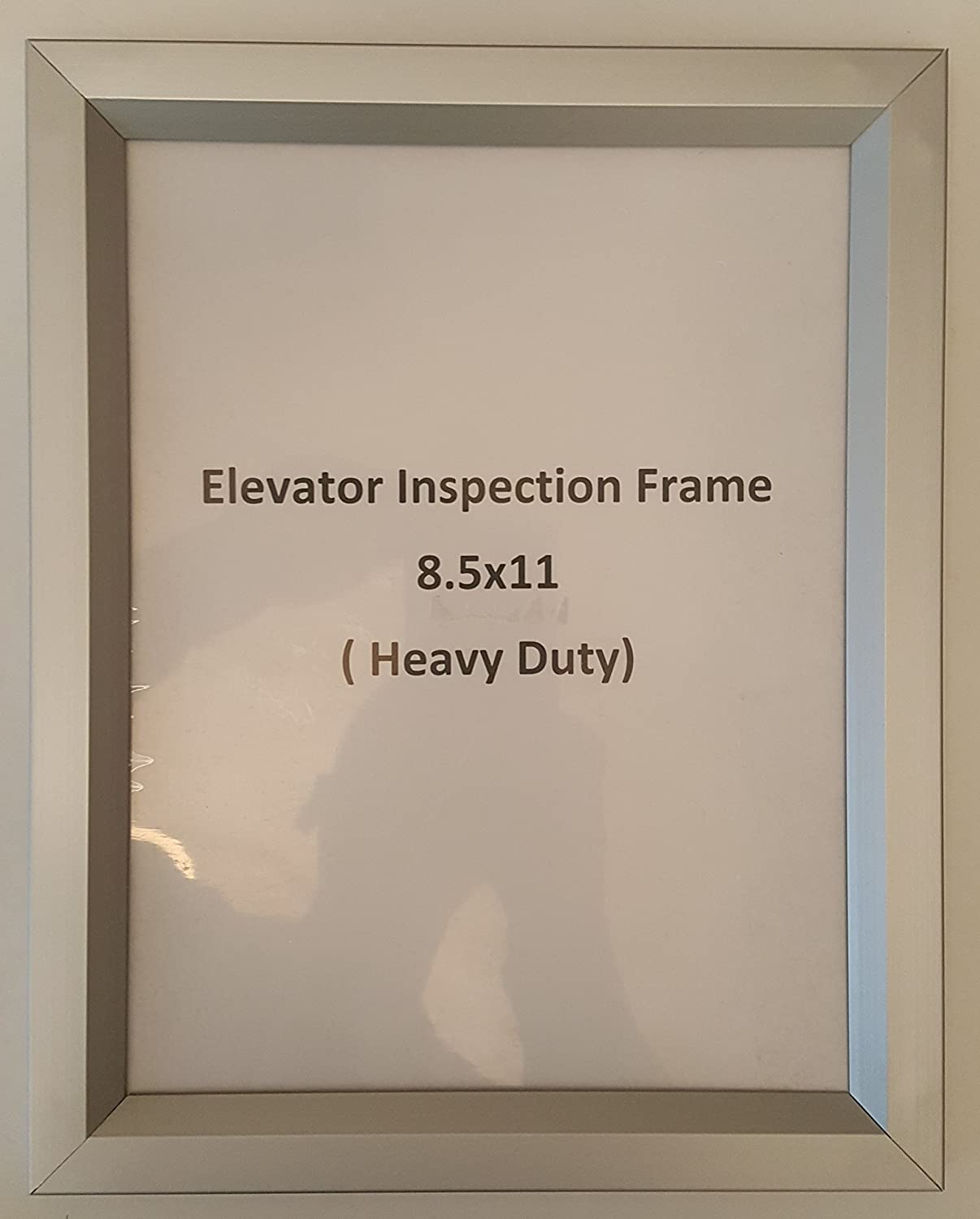 Elevator Inspection Frame 85 X 11 Heavy Duty Aluminum