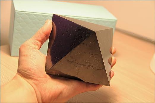100/% Karelian Polished Shungite Pyramid EMF Protection Anti-radiation 10cm