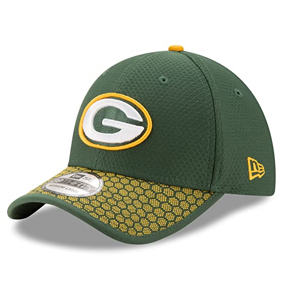 New Era 39THIRTY Green Bay Packers Baseball Cap - NFL Sideline - Green- Yellow  Amazon.co.uk  Clothing d18cee5d44f