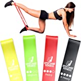 Resistance Bands Set of 4 - Premium Natural Latex Fitness Bands for Home Exercises, Crossfit, Rehab, Physical Therapy…