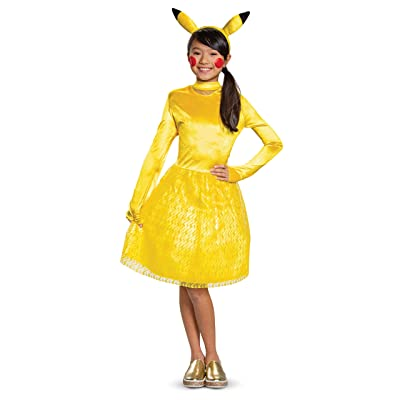 Disguise Pikachu Pokemon Classic Girls' Costume: Toys & Games
