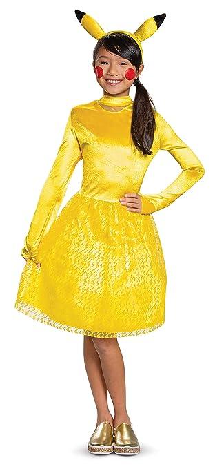 Amazon.com: Pikachu - Disfraz clásico para niña, color ...