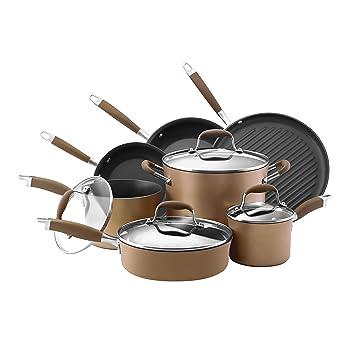 Anolon 11 Pcs Hard-Anodized Cookware Set