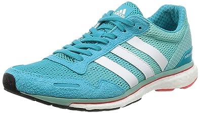 newest 3234a b659e adidas Adizero Adios W, Chaussures de Course Femme, Multicolore  (Enebluftwwht