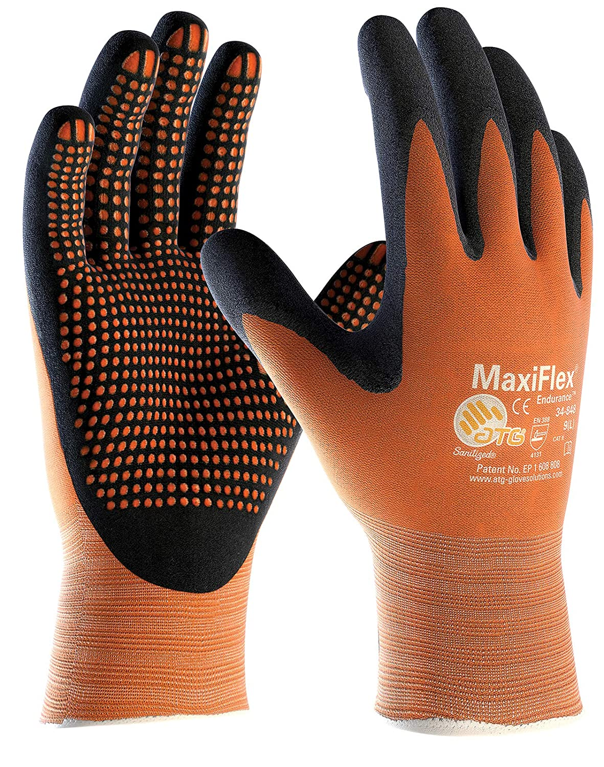 7//S MaxiFlex Ultimate 34-874 Nitrile Foam Palm Coated Work gloves