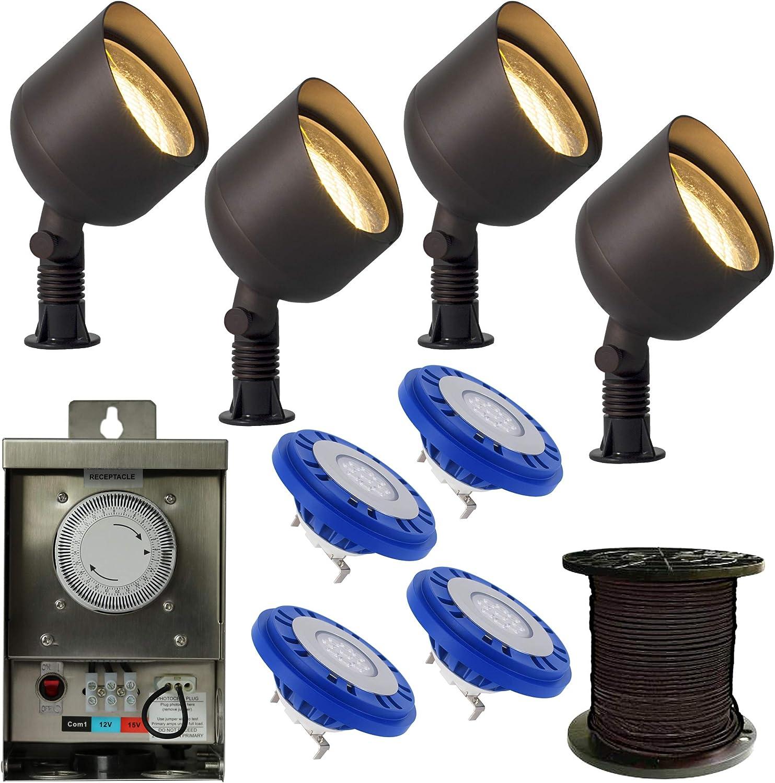 Amazon Com Landscape Lighting Kit Lamps Amp Lighting Voltage