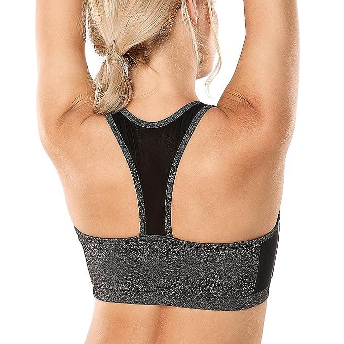 CRZ YOGA - Sujetador Deportivo Malla Casuales Yoga Cruzados para Mujer: Amazon.es: Ropa y accesorios