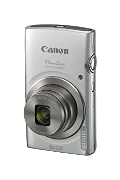 Canon PowerShot ELPH 180 (Silver) with 20. 0 MP CCD Sensor and 8x Optical Zoom Point & Shoot Digital Cameras at amazon