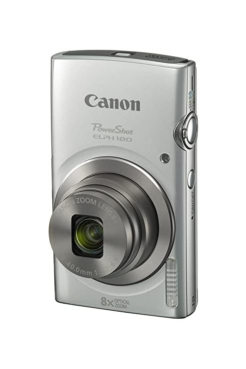 Canon PowerShot ELPH 180 Digital Camera w/ Image Stabilization and Smart AUTO Mode (Silver) Point & Shoot Digital Cameras at amazon