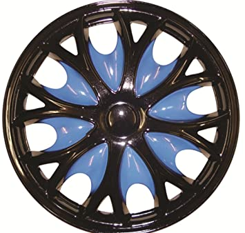 Xtremeauto® 15 Comet Pro Blue Car Wheel Trims Hub Cap Includes Cable Ties And Valve Caps - Includes Sticker: Amazon.co.uk: Car & Motorbike