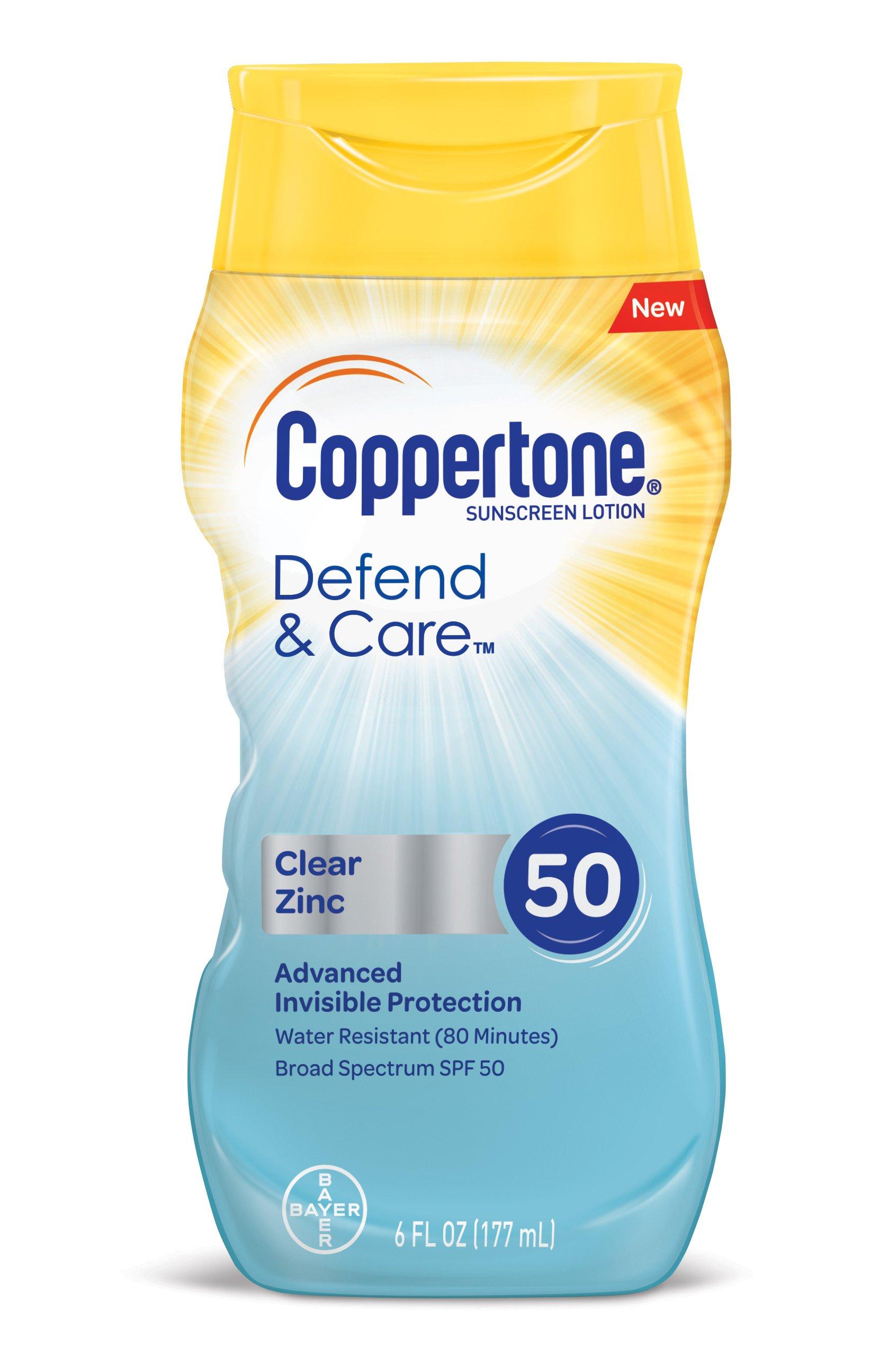 amazoncom coppertone defend amp care clear zinc sunscreen