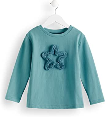 Marca Amazon - Red Wagon Star Fringe Sweat, Camiseta para Niñas