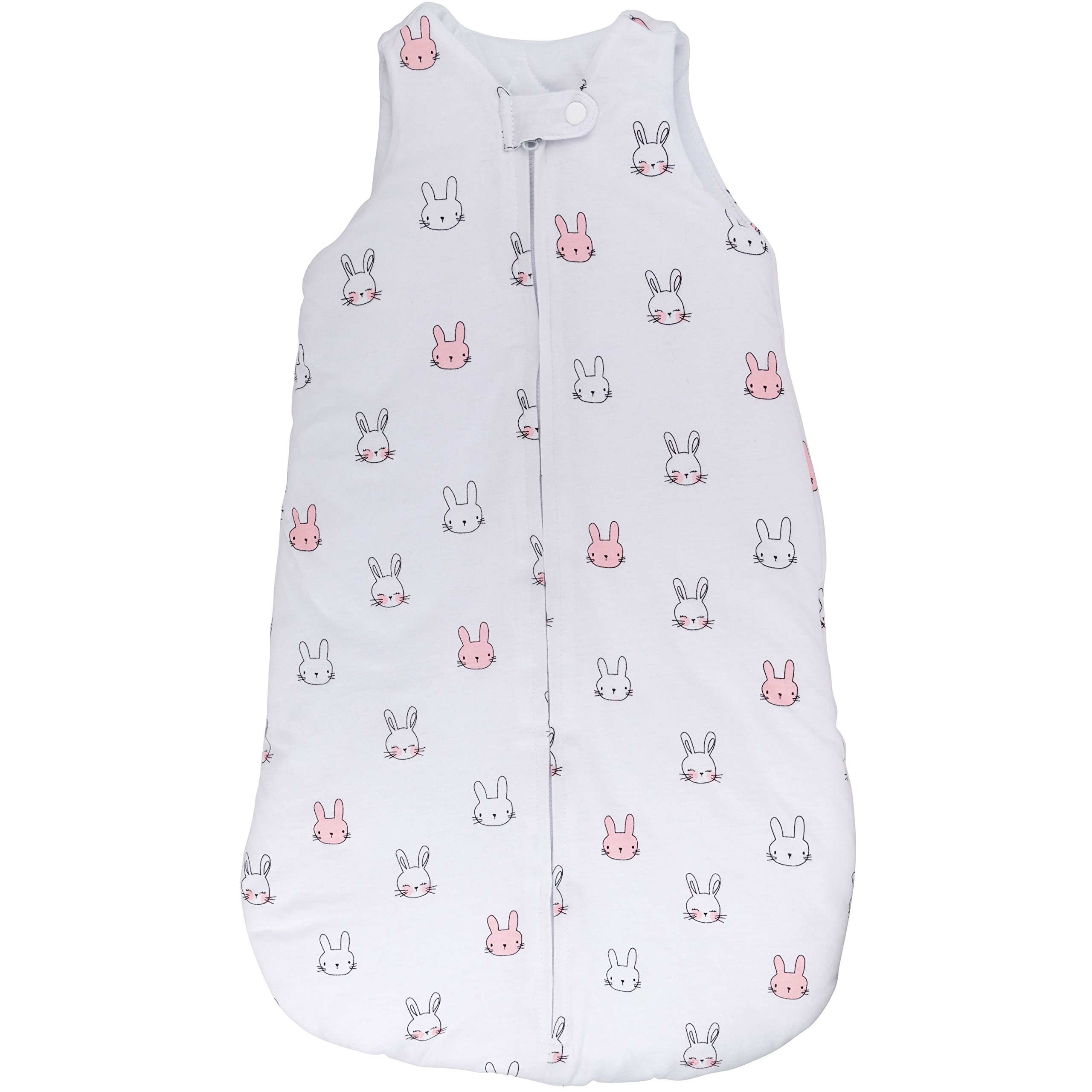 Baby Wearable Blanket- Sleep Bag Winter Weight Pink Bunnies for Baby Girl (0-3 Months) by Ely's & Co by Ely's & Co