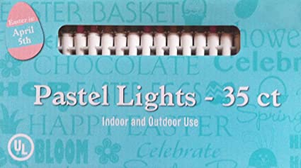 Amazon easter pastel opaque string lights indoor and outdoor easter pastel opaque string lights indoor and outdoor use 35 lights per string aloadofball Images