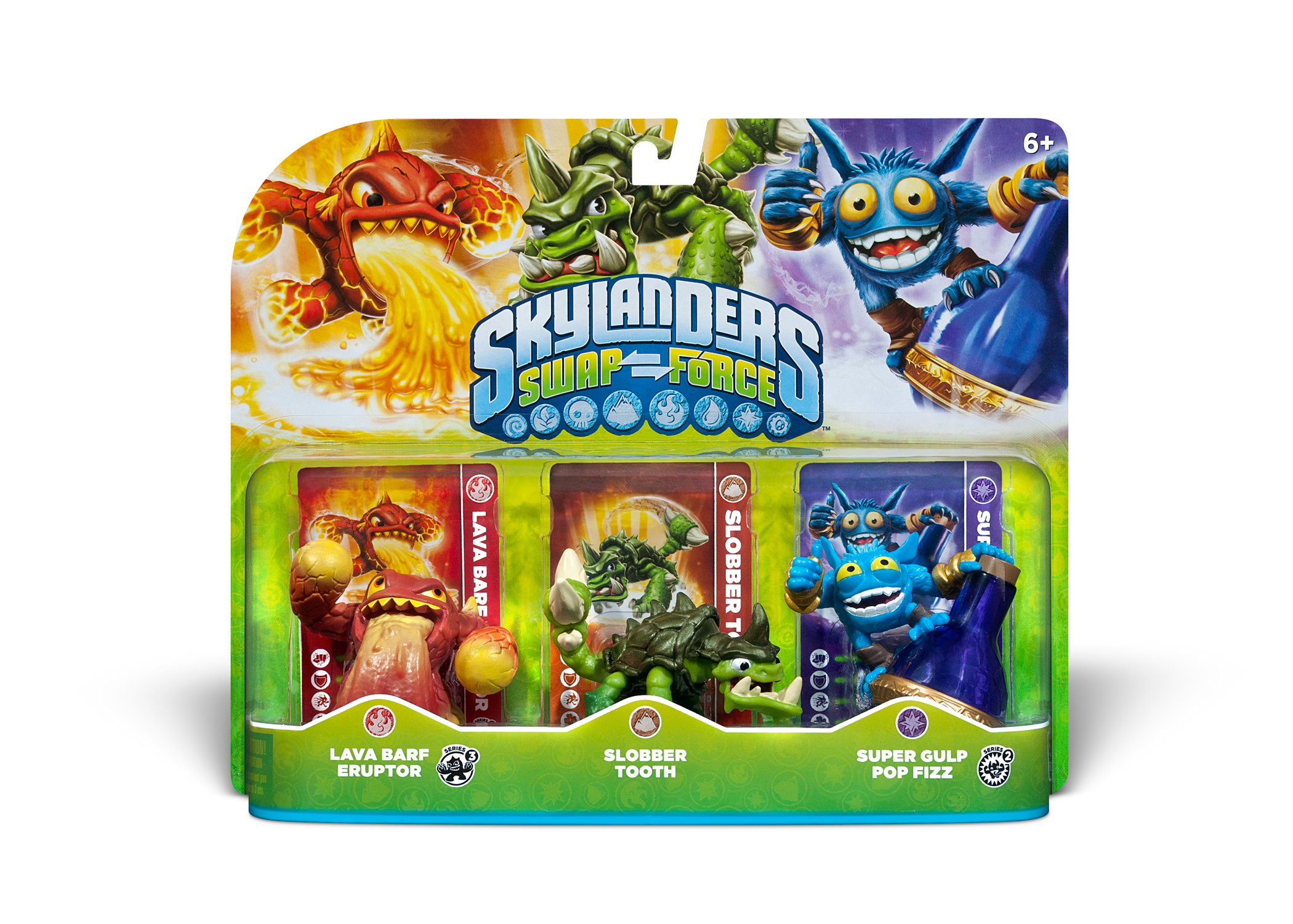 Skylanders SWAP Force Triple Character Pack: Lava Barf Eruptor, Slobber Tooth, Super Gulp Pop Fizz