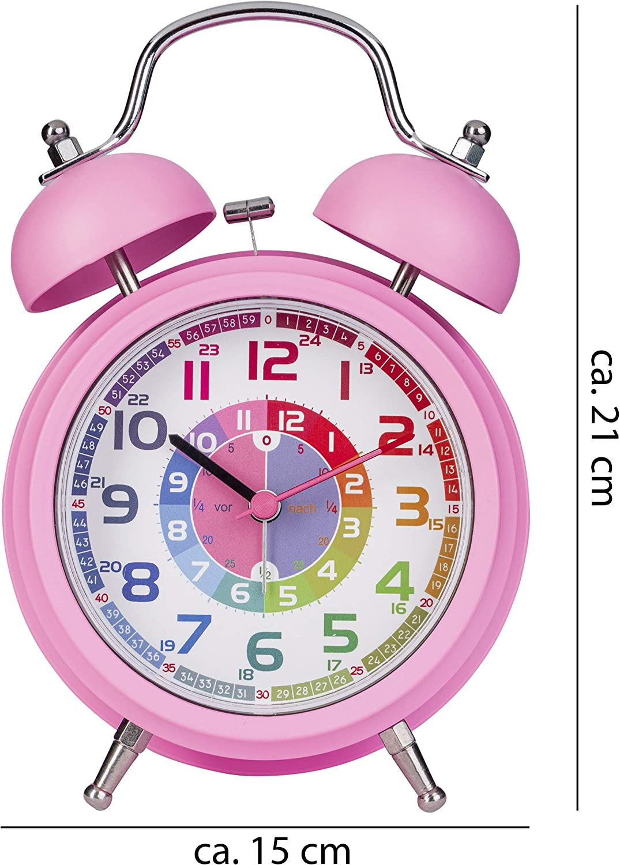 ONVAYA/® R/éveil pour enfant Montre jouet pour gar/çons /& filles turquoise r/étro Horloge dapprentissage pour enfants R/éveil /à quartz R/éveil /à cloche avec lumi/ère et musique