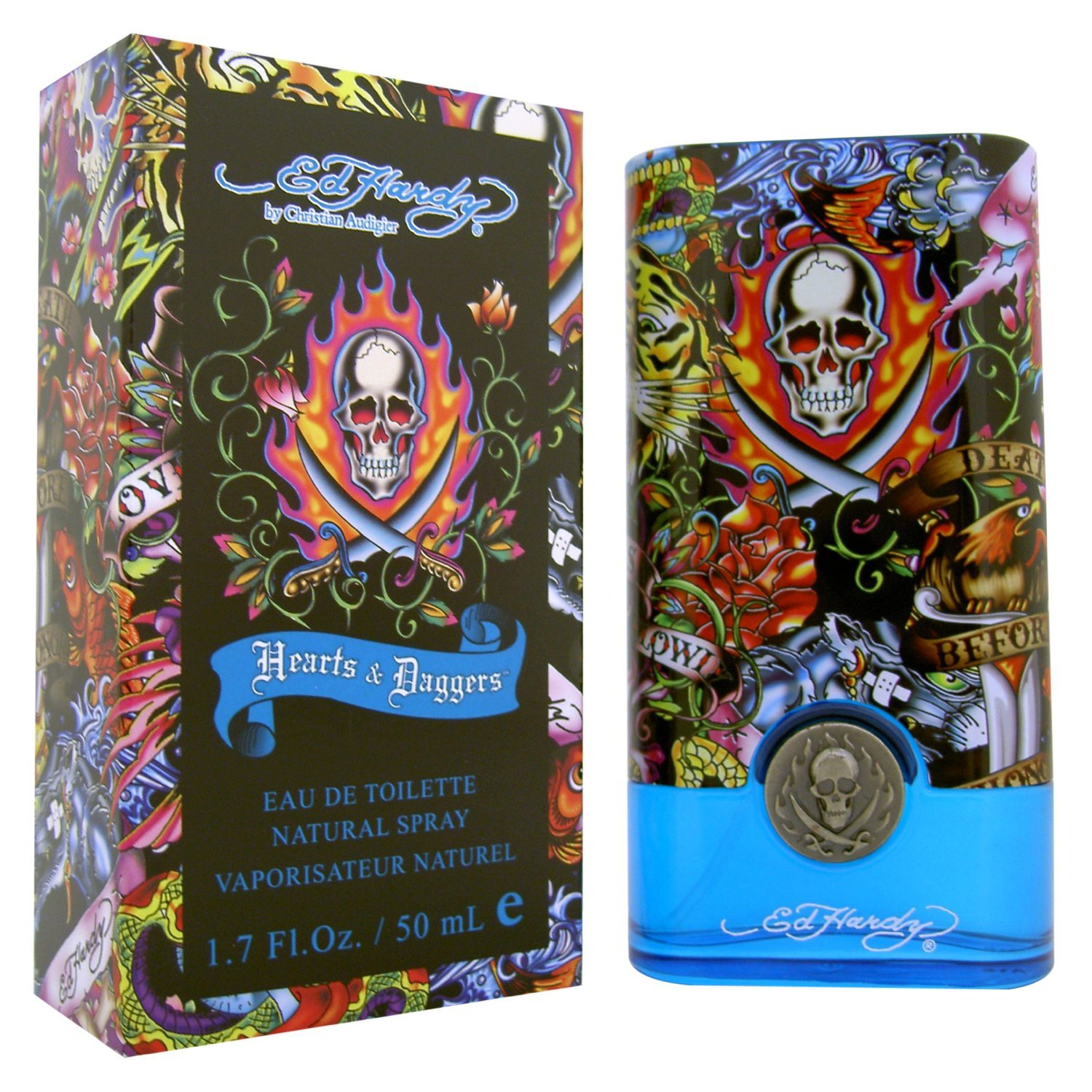 Ed Hardy By For Men Eau De Toilette Spray 3 4 Ounces: Amazon.com : Christian Audigier Ed Hardy Hearts And Daggers Eau De Parfum Spray For Women, 1.7