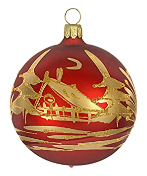 Jingle Bells Lauscha Christbaumschmuck Kugel Weihnachtszeit Matt 8cm