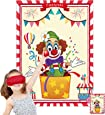 Funnlot Carnival Games Carnival Party Games Pin The Nose on The Clown Circus Theme Games Carnival Party Supplies Decorations Circus Theme Party Supplies Circus Theme Birthday Party Decorations