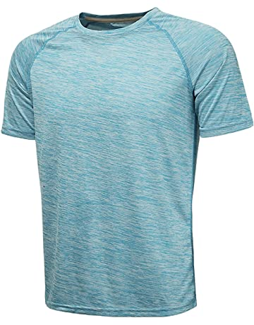 c22995bc7e8da KomPrexx Sport T Shirts for Men - QUICK DRY WICKING - Running Tops Training  Tee Short