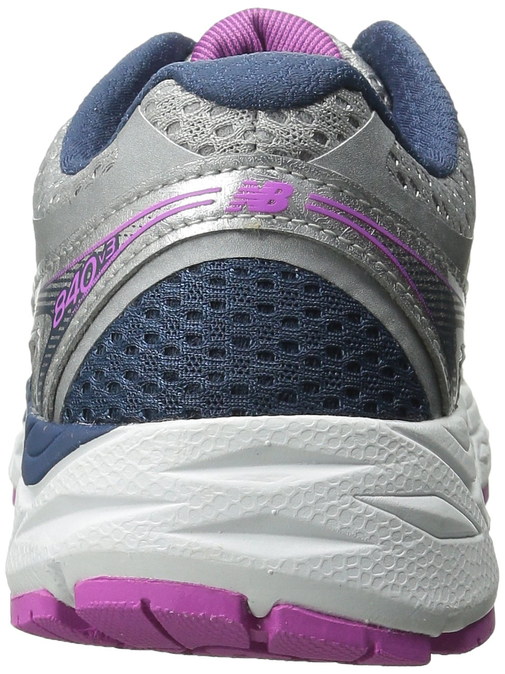 New Balance Women's W840V3 Running Shoe B00V3NB3Y0 12 B(M) US|Silver/Navy
